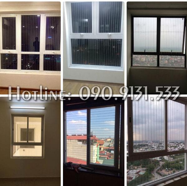 Các loại cửa lưới chống muỗi cửa sổ chung cư