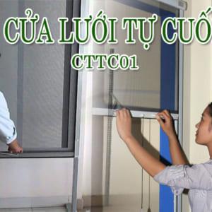 Cửa lưới côn trùng CTTC01 tự cuốn cho VĂN PHÒNG