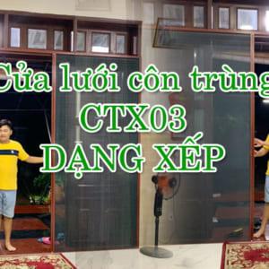 Cửa lưới côn trùng CTX03 dạng xếp cho biệt thự tại TPHCM