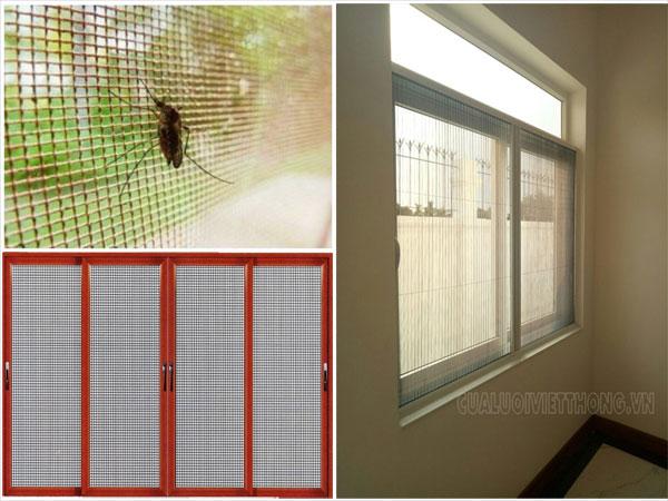 Phòng bệnh sốt rét bằng cách lắp cửa lưới chống muỗi