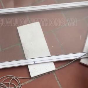 Cửa lưới côn trùng CTCD04 thiết kế đơn giản màu trắng thường