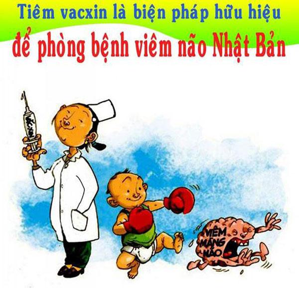 Tiêm vắc-xin viêm não Nhật Bản theo lịch của trạm y tế cho trẻ