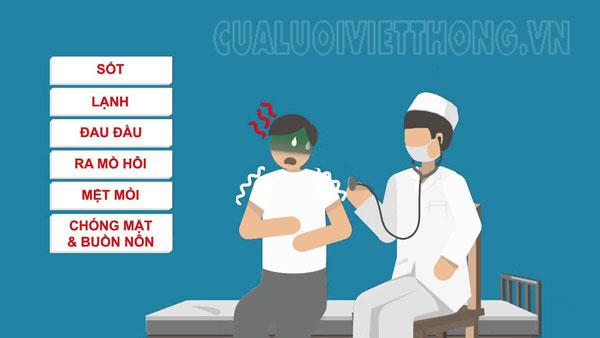 Triệu chứng của sốt rét