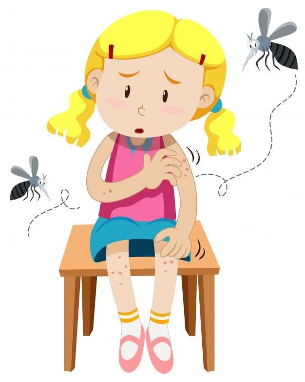 Trẻ em dễ bị côn trùng cắn nhất